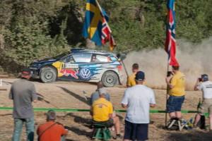 Mikkelsen/Floene, VW Polo R WRC; Foto: VW