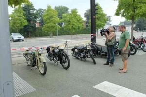 Oldtimertreffen Schwerin, auch Zweiräder sind mit dabei; Foto: P. Bohne