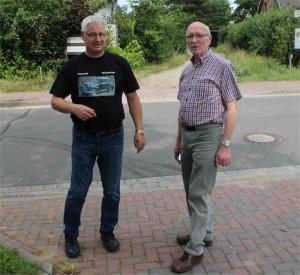 Streckenchef Burkhard Schulz und Günter Blankenberg; Foto: P. Bohne
