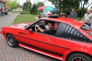 Bei der Schraubenfeder ging es daneben für den Fahrer des Opel Manta. Foto: P. Bohne, den Manta fuhr