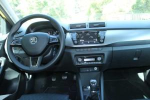 Cockpit des neuen Skoda Fabia Style; Foto: P. Bohne