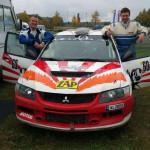 Martin Christ (re.) und Co-Pilot Tino Krajewski (li,). Foto: privat/MC
