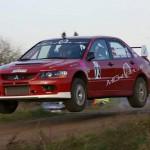 Martin Chirst, Mitsubishi Evo, Havellandrallye 2014; Foto privat