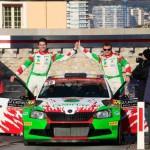 Zielrampe Monte Carlo; 2. Rang WRC2 Kremer/Winklhofer