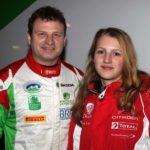 Armin Kremer und Tochter Ella; Foto: Armin Kremer Rallying