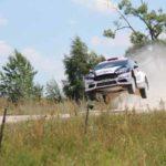 Lag lange in Führung, Rang 2 Ott Tanak/Raigo Mokier, Ford Fiesta RS WRC. Foto: P. Bohne